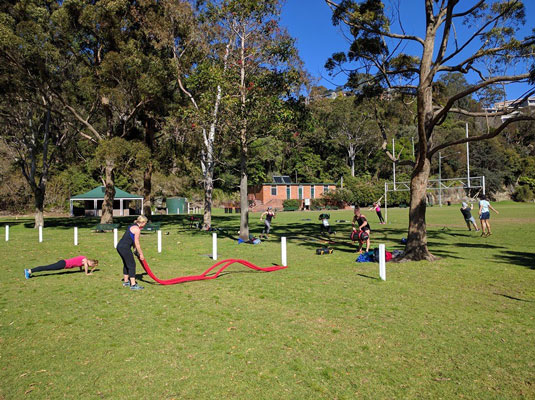 Outdoor group personal training in south melbourne.