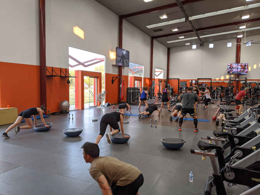 Group personal training in Newport.