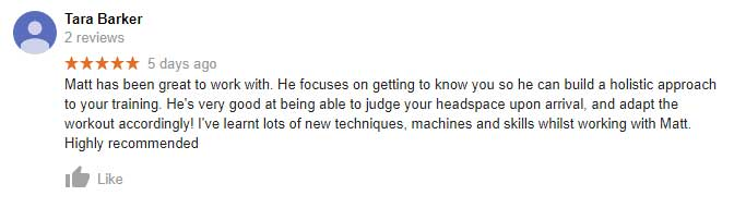 South Melbourne personal training review from Taras