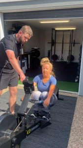 Making sure the client is getting the benefits of rowing